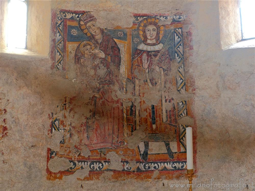 Biella (Italy) - Fourteenth-century fresco in the Baptistery of San Giovanni